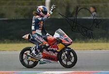 Karel hanika mano firmado 12x8 Foto 2015 Moto3 Red Bull KTM Ajo 1.