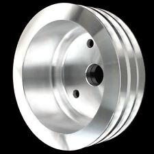 Billet Aluminum 3 Grv Crankshaft Pulley Fits Small Block Chevy LWP 327 350 400