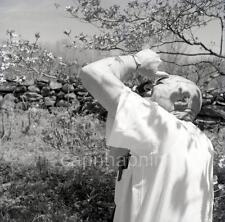 Photographer With Camera Photographs Tree Blossoms 3 Vtg 1950s Negative Photos