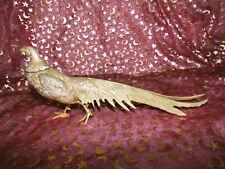Messingfigur Fasanenhenne / Deko Figur Messing Tier / Fasan weiblich, Henne