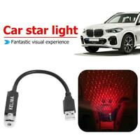 USB Mini Car Interior Atmosphere Lamp Interior Ambient Star Light Projector Red
