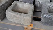 Alter Trog aus Granit 30 cm lang  Steintrog Granittrog G1178 Brunnen Waschbecken