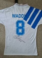 More details for rare chris waddle signed marseille retro shirt **charity auction**