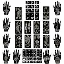 22 Reusable Temporary Tools India Henna Template Hand Body Art Tattoo Stencils