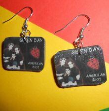 Orecchini creazioni fimo band Green Day fatti a mano Bijoux earrings idea regalo