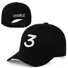 New Chance The Rapper 3 Dad Hat Baseball Cap - Adjustable Yeezy Strapback BLACK