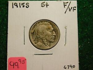 1915  S    Buffalo Nickel