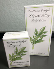 Vtg Crabtree & Evelyn LILY OF THE VALLEY Soap & Body Lotion