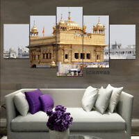 Golden Temple Building Religion 5 pcs HD Art Wall Home Decor Canvas Print