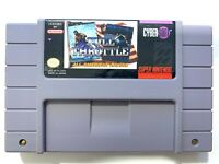 Full Throttle Racing SUPER NINTENDO SNES GAME Tested + Working & Authentic!