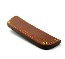 Universal Cow Leather Engraved Sheath Dagger Fixed Blade Knife Case Edge Guard