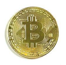 BITCOIN Ƀ Gold Clad Souvenir Token Collector Novelty Coin (NEW)