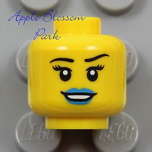 NEW Lego Female MINIFIG HEAD - Galaxy Squad Girl w/Blue Lips Lipstick Diva Smile