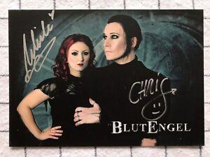 Chris und Ulrike Blutengel Pop Musik TV original signierte AK Autogrammkarte 1