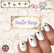 40 x Nail Art Water Transfers Stickers Wraps Decals kids Dance Gym G2 Smaller