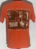 Auburn Tigers War Eagle All Orange NCAA SEC College Team Short Sleeve T-shirt