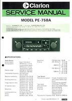 Tv, Video & Audio Liefern Clarion Original Service Manual F Pe 760 A