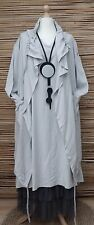 LAGENLOOK  2 PCS OUTFIT LONG DRESS+QUIRKY LONG JACKET*LIGHT GREY*BUST 40-42