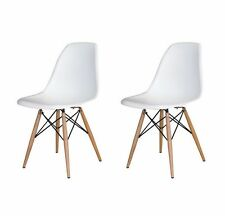 ( set of 2 ) dsw chair  mid century modern wood.eames,esque