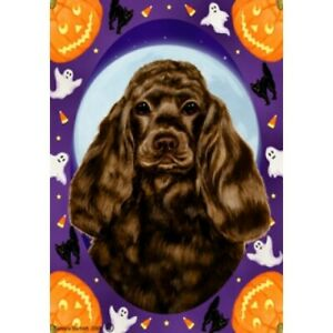 Halloween Garden Flag - Chocolate Cocker Spaniel 122061