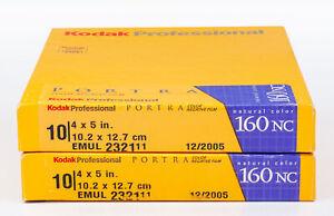 Kodak PORTRA 160NC 4X5 Film (2 Ten-Sheet Boxes) / NO RESERVE