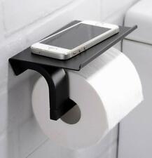 Modern Matte Black Toilet Paper Holder Wall Mounted Tissue Roll Hanger SUS 304