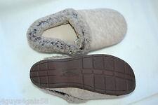 Womens Dearfoam Slippers OATMEAL GRAY In/ Outdoor COMFORT CUSHION Slip On  M 7-8