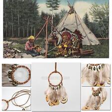 Vintage Women Retro Dream Catcher Feather Charm Pendant Jewelry Chain Necklace