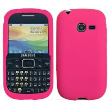 Hot Pink Solid Silicone Skin Cover Case for Samsung Freeform 5 R480