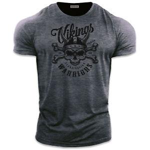 Mens Gym T Shirt | VIKING WARRIOR | Bodybuilding T Shirt Gym Clothes For Men