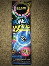 illooms Led Light Up PUNCH! Balloon ~ 1 BLUE Balloon GLOWS for 15 Hours