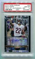 2015 Topps Chrome Matt Forte Variation SP Auto 5/10 PSA 10 Gem Mint POP 1