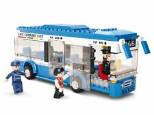 Ciudad de bus único Decker aeropuerto de transferencia entrenador detener transporte conjunto de ladrillos de construcción