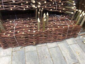 Natural Willow Border Edging 100cmx 20 Garden Lawn Hurdle Wicker 1 panel each