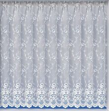 White Lace Effect Butterfly Net Curtains Assorted Drops Buy The Metre. 48""
