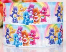 "7/8"" 2Yds Care Bears Grosgrain Ribbon Hair Bows Cards Crafts Scrapbks Gift Wrap"