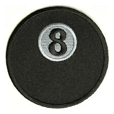Embroidered 8 Ball Pool Billiards Sew or Iron on Patch Biker Patch