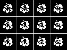 Hawaiian Hibiscus Nail Art Vinyl Stencil Guide Sticker Manicure Hollow Template