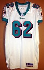 MIAMI DOLPHINS DWAYNE PIERCE White #62 GAME ISSUED Size 48 NFL JERSEY