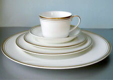 Monique Lhuillier Royal Doulton Ruban D'or 5 Piece Place Setting Made in UK New