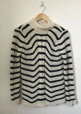 Zara Knit Women Jumper Size Medium Chunky Roll Neck Long Sleeve Knit Wool Angora