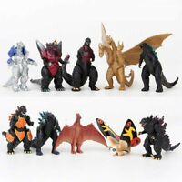 "10PCS/Set Godzilla 2 King of the Monster Shin Kaiju Gigan Ghidorah Figures 2.5"""