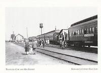 "*Nebraska Postcard-""Traveling Cow & Hen Exhibit"" /Sign on Train/  (ID:6)"