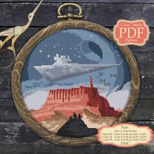 Jedha - Rogue One - Cross stitch PDF Pattern Embroidery Hoop Art #064