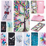 For Samsung J4 J6 Plus 2018 Note 10+ Painted Leather Wallet Flip Book Case Cover