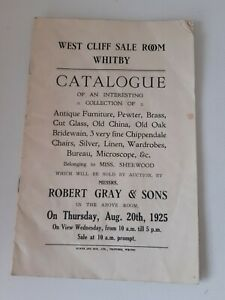 Antique Whitby Auction Catalogue Sale of Belongings of Miss Sherwood 1925 §DJ353