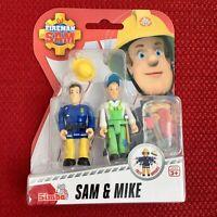 Fireman Sam Figures SAM & MIKE Toy Set Simba Brand NEW
