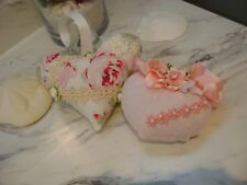Shabby Chic strawbery ,heart sachet~Pin cushion Pillow,HM R.Ashwell rose.lace,