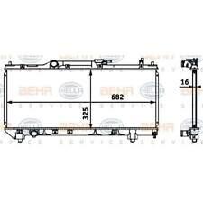 Radiator Car Cooler BEHR HELLA SERVICE (8MK 376 718-461)