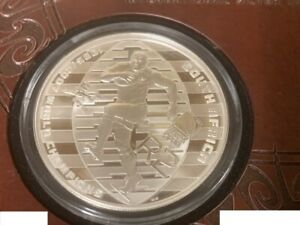 South Africa: 1995-2007 Silver Proof Two Rand Coin- 2011 Rugby World Cup